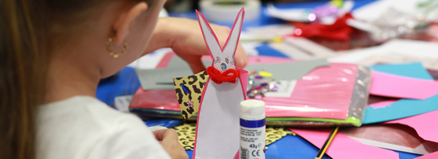 Artists from the National Portrait Gallery came in to run arts workshops during half term.