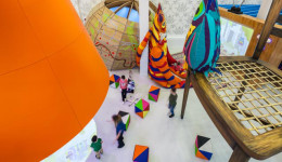 The art strategy for the Children's Hospital engaged children and young patients in workshops and playful consultation. The resulting 17 commissions aim to create moments of intrigue and wonder.