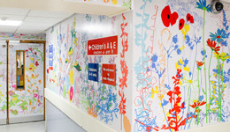 Working in close consultation with clinical staff and young patients, artist Jacques Nimki has brought the 'outside in' with an artwork commission that makes the department more welcoming.