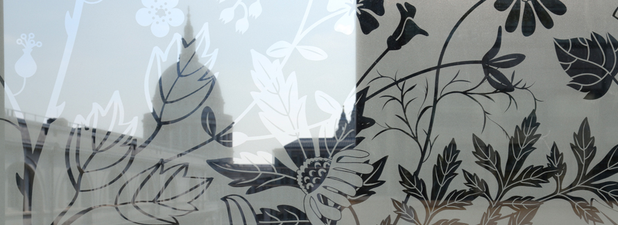 New commission by designer Tord Boontje uses images of medicinal plants to create privacy and beauty at Barts Hospital