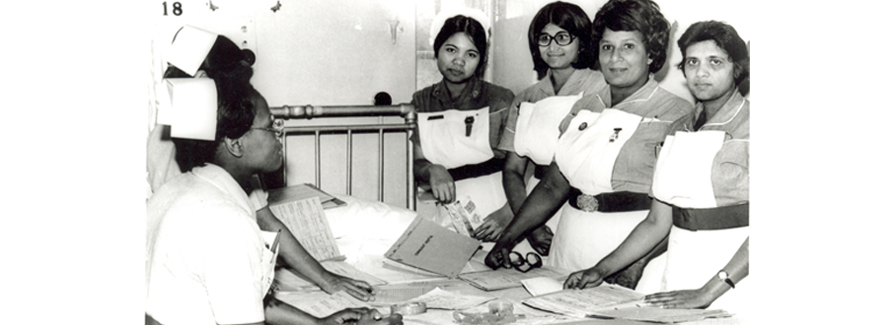 Nurses at Connaught Hospital Walthamstow, 1977. Courtesy of Vestry House Museum and Archives.
