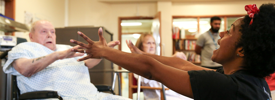 Building on our extensive Vital Dance programme with Trinity Laban and paediatric physiotherapists, we are developing a programme with physiotherapists and occupational therapists for older adults