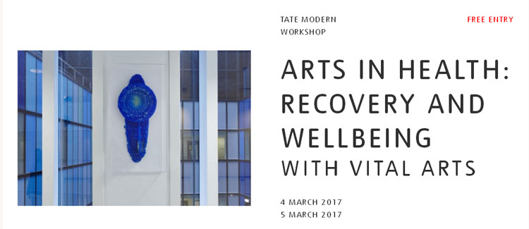 Join us at Tate Modern on the 4th and 5th March, for a weekend exploring the positive impact that the arts bring to health and wellbeing